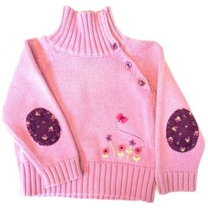 Second Step Infant Girls' Embroidered Sweater 18M